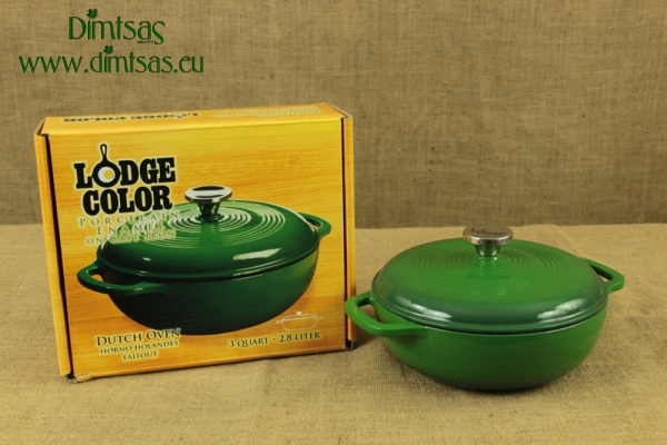 Enameled Cast Iron Dutch Oven - Casserole 2.8 lit Green