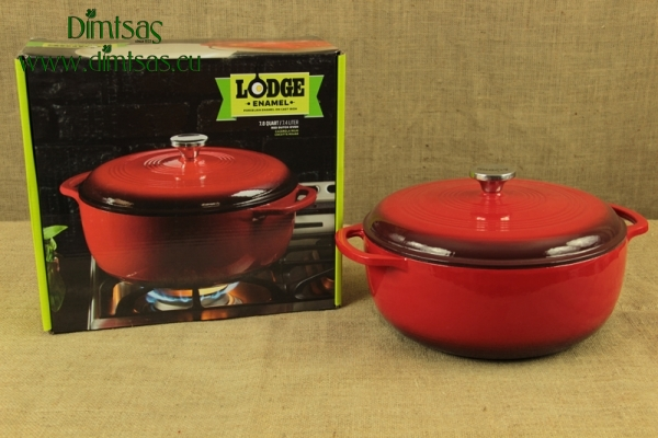 Enameled Cast Iron Dutch Oven - Casserole 7.4 lit Island Spice