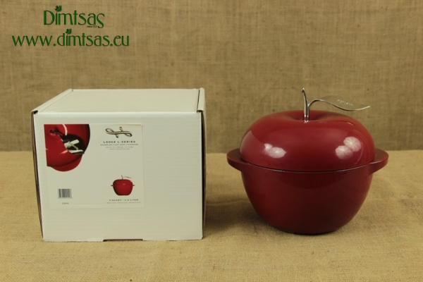 Enameled Cast Iron Dutch Oven - Casserole Apple 2.8 lit Red