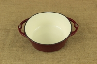 Enameled Cast Iron Dutch Oven - Casserole 3.8 lit Patriot Red First Depiction