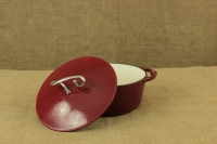 Enameled Cast Iron Dutch Oven - Casserole 3.8 lit Patriot Red Fourth Depiction