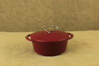 Enameled Cast Iron Dutch Oven - Casserole 3.8 lit Patriot Red Fifth Depiction