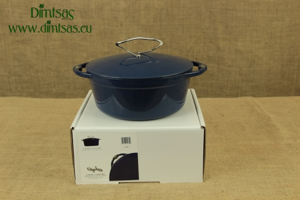 Enameled Cast Iron Dutch Oven - Casserole 3.8 lit Liberty Blue