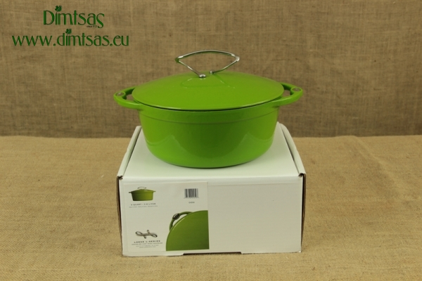 Enameled Cast Iron Dutch Oven - Casserole 3.8 lit Apple Green