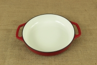 Enameled Cast Iron Casserole - Shallow Pot 2.8 lit Red Third Depiction