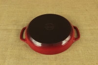 Enameled Cast Iron Casserole - Shallow Pot 2.8 lit Red Fifth Depiction