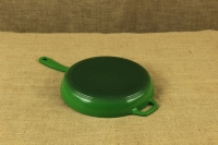 Enameled Cast Iron Skillet Lodge 28 cm Green First Depiction