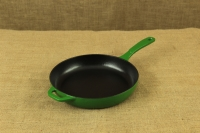 Enameled Cast Iron Skillet Lodge 28 cm Green Second Depiction