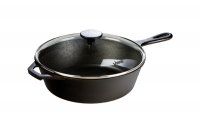 Lodge Cast Iron Deep Skillet with Glass Cover 26 cm – 2.8 lit – Depth 7 cm Ninth Depiction