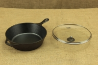 Lodge Cast Iron Deep Skillet with Glass Cover 26 cm – 2.8 lit – Depth 7 cm Third Depiction