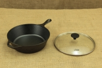 Lodge Cast Iron Deep Skillet with Glass Cover 26 cm – 2.8 lit – Depth 7 cm Fifth Depiction
