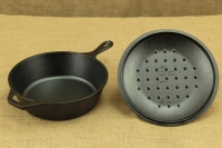 Lodge Cast Iron Chicken Fryer with Iron Cover 26 cm – 2.8 lit – Depth 7 cm Fourth Depiction