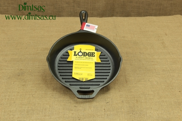 Lodge Cast Iron Square Skillet 27 cm – Depth 4.4 cm