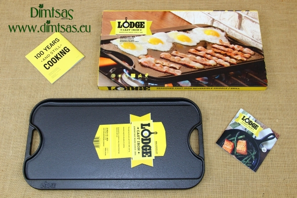 Lodge Cast Iron Reversible Pro Grid Iron Griddle 51x26.5 cm Double Sided