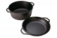 Lodge Cast Iron Double Dutch Oven 4.7 lit Tenth Depiction