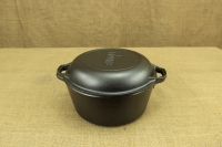 Lodge Cast Iron Double Dutch Oven 4.7 lit Second Depiction