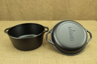 Lodge Cast Iron Double Dutch Oven 4.7 lit Third Depiction