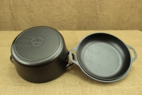 Lodge Cast Iron Double Dutch Oven 4.7 lit Fourth Depiction