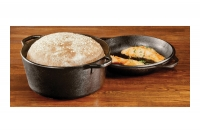 Lodge Cast Iron Double Dutch Oven 4.7 lit Eighth Depiction