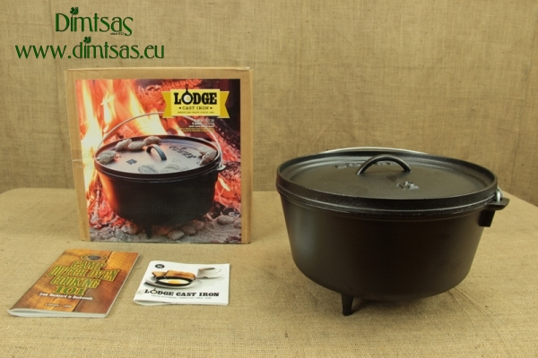Lodge Cast Iron Camp Dutch Oven 7.6 lit - 30.5 cm
