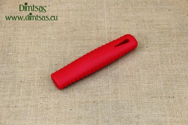 Λαβή Σιλικόνης για Ατσάλινα Τηγάνια Seasoned Κόκκινη