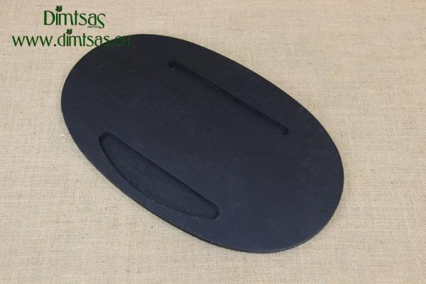 Oval Wood Underliner Ebony Black