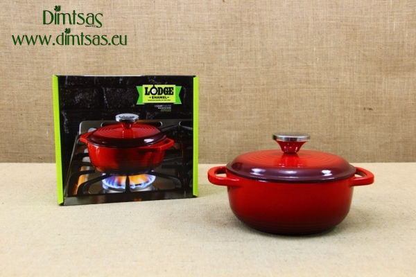Enameled Cast Iron Dutch Oven - Casserole 1.4 lt Red