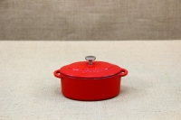 Enameled Cast Iron 10 oz. Oval Cocottes Set of 2 Red Second Depiction