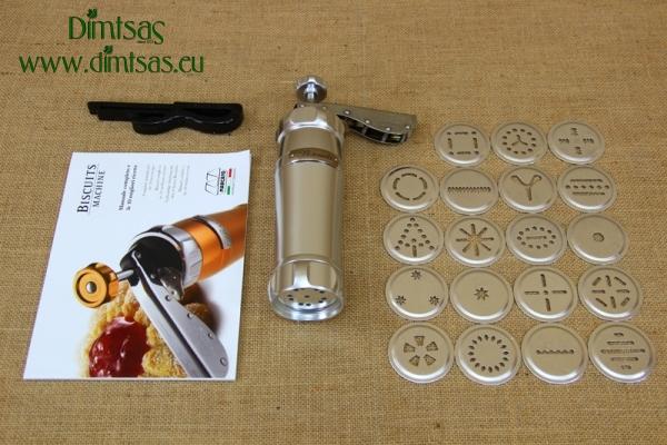 Μηχανή για Μπισκότα & Κουλουράκια Marcato Ασημί