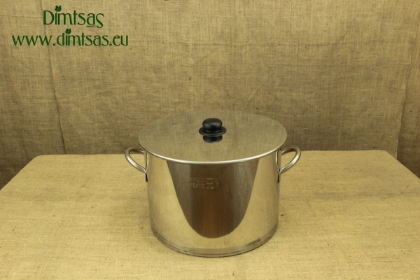 Stock Pot Stainless Steel 37x26 1.2 mm with Bottom 1.5 mm 25 lit