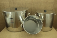 Stock Pot Stainless Steel 37x26 1.2 mm with Bottom 1.5 mm 25 lit Sixth Depiction