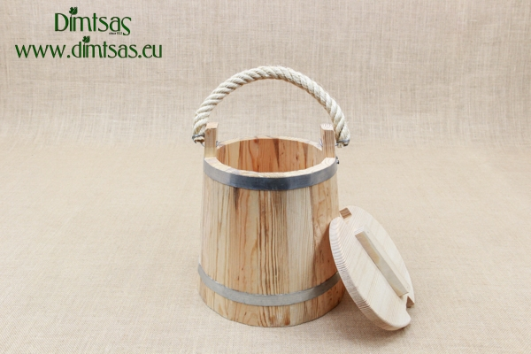 Wooden Milk Bucket with Lid 10 liters