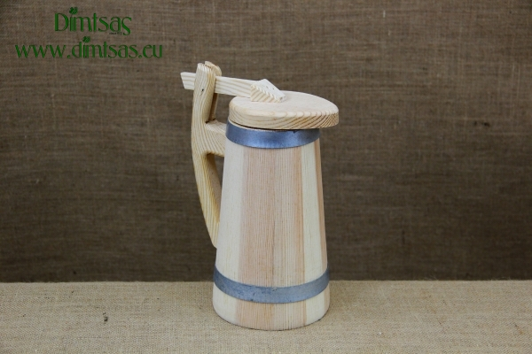 Wooden Jug with Lid 1.2 liters