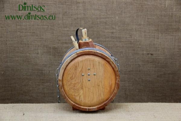 Wooden Flask Round 2 liters No2