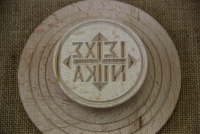 Wooden Stamp for Holy Bread 13 cm Third Depiction