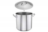 Stock Pot Stainless Steel 32x32 1.4 mm with Sandwich Bottom 25 lit Ninth Depiction