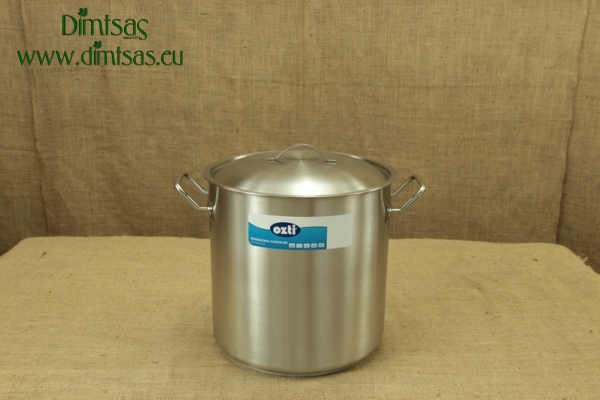 Stock Pot Stainless Steel 32x32 1.4 mm with Sandwich Bottom 25 lit