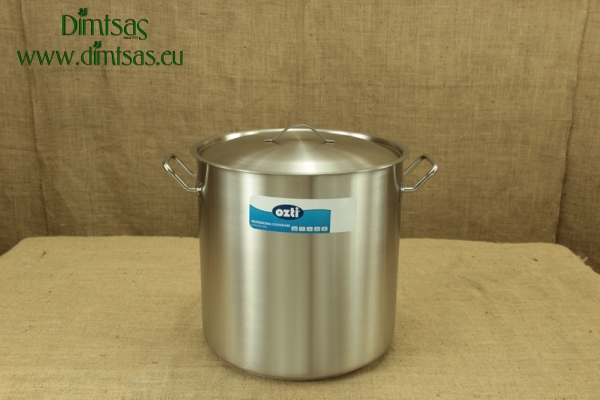 Stock Pot Stainless Steel 36x36 1.4 mm with Sandwich Bottom 35 lit