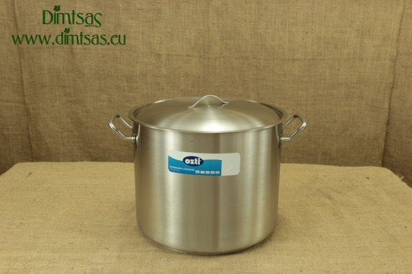 Stock Pot Stainless Steel 40x32 1.4 mm with Sandwich Bottom 40 lit