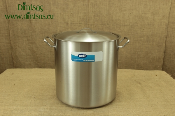 Stock Pot Stainless Steel 40x40 1.4 mm with Sandwich Bottom 50 lit