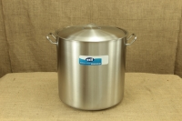 Stock Pot Stainless Steel 45x45 1.4 mm with Sandwich Bottom 75 lit First Depiction