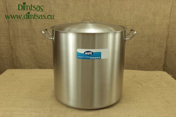 Stock Pot Stainless Steel 60x55 1.4 mm with Sandwich Bottom 150 lit