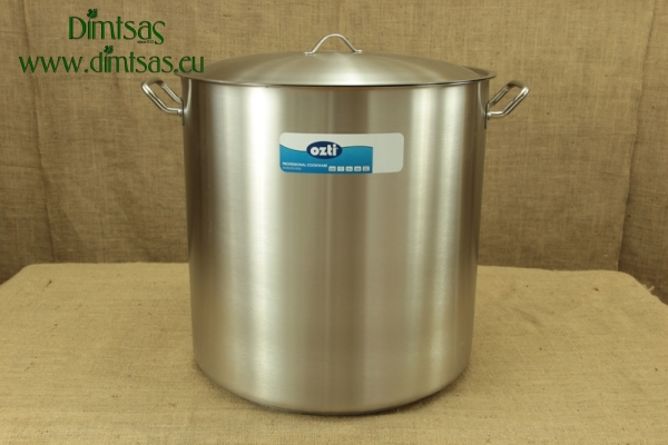 Stock Pot Stainless Steel 50x50 1.4 mm with Sandwich Bottom 100 lit