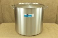 Stock Pot Stainless Steel 60x55 1.4 mm with Sandwich Bottom 150 lit First Depiction