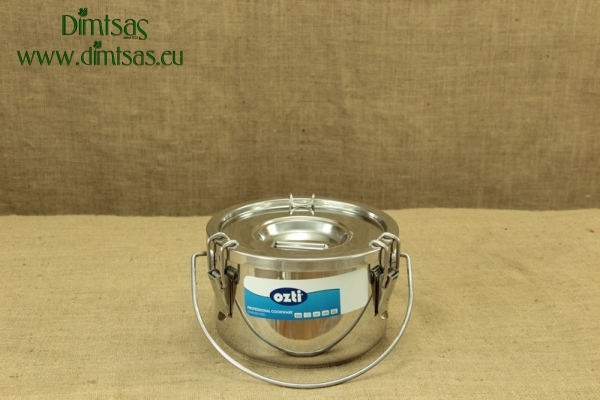 Food Carrying Container Stainless Steel 24x15 6 lit with Sandwich Bottom