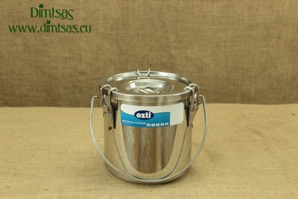 Food Carrying Container Stainless Steel 24x24 11 lit with Sandwich Bottom