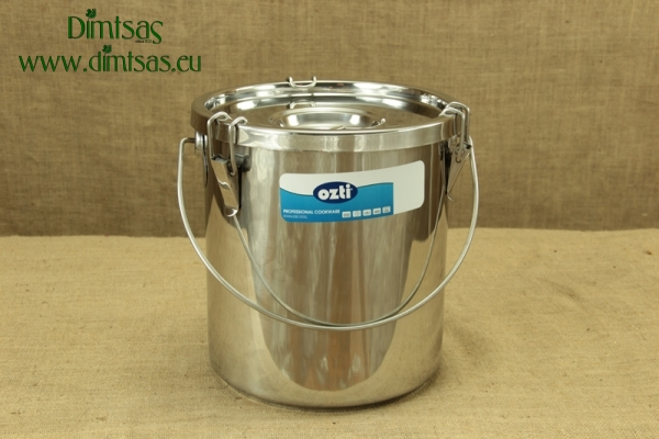 Food Carrying Container Stainless Steel 30x32 22 lit with Sandwich Bottom