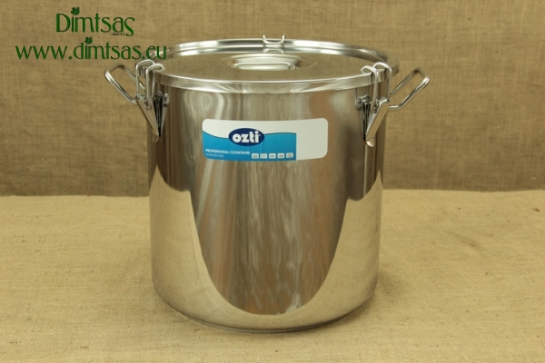 Food Carrying Container Stainless Steel 36x36 35 lit with Sandwich Bottom