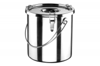 Food Carrying Container Stainless Steel 40x40 50 lit with Sandwich Bottom Tenth Depiction