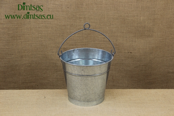 Iron Bucket Conical Galvanized No4 12 liters